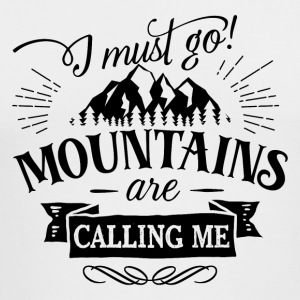 I must go mountains are calling me - hiking nature - Men's Long Sleeve T-Shirt by Next Level
