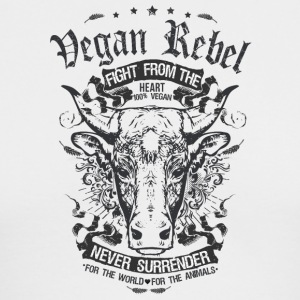 Vegan Rebel Black Edition - Men's Long Sleeve T-Shirt by Next Level