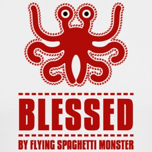Blessed by flying spaghetti monster pastafarian da - Men's Long Sleeve T-Shirt by Next Level