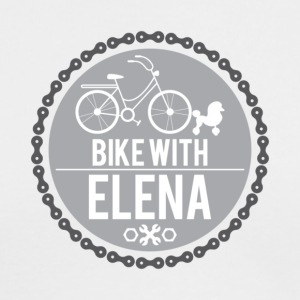 bike with elena - Men's Long Sleeve T-Shirt by Next Level