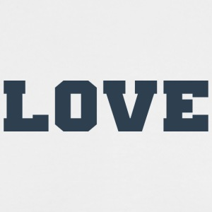 Love (Collegiate Design) - Men's Long Sleeve T-Shirt by Next Level
