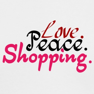 Love.Peace.Shopping. - Men's Long Sleeve T-Shirt by Next Level