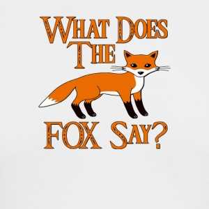 What Does The Fox Say - Men's Long Sleeve T-Shirt by Next Level