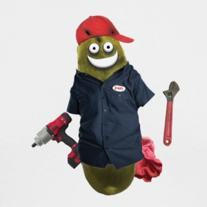 Mechanic Pickle - Men's Long Sleeve T-Shirt by Next Level