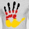 German Flag Hand - Men's Long Sleeve T-Shirt by Next Level
