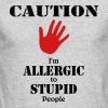 Caution, I'm allergic to stupid people - Men's Long Sleeve T-Shirt by Next Level