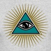 All seeing eye, triangle, god, Symbol omniscience - Men's Long Sleeve T-Shirt by Next Level