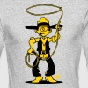 Cowboy with a lasso - Men's Long Sleeve T-Shirt by Next Level