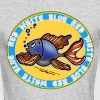 Red White and Blue Jeans Fish, By FabSpark - Men's Long Sleeve T-Shirt by Next Level