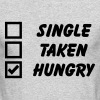 Single, Taken, Hungry - Men's Long Sleeve T-Shirt by Next Level