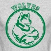 Wolf or wolves Custom Teams Graphic - Men's Long Sleeve T-Shirt by Next Level