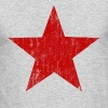 Red Star faded  - Men's Long Sleeve T-Shirt by Next Level