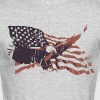 Vintage American Flag bald eagle - Men's Long Sleeve T-Shirt by Next Level