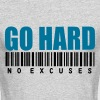GO HARD NO EXCUSES - Men's Long Sleeve T-Shirt by Next Level