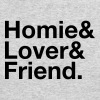 Homie, Lover, Friend - Men's Long Sleeve T-Shirt by Next Level