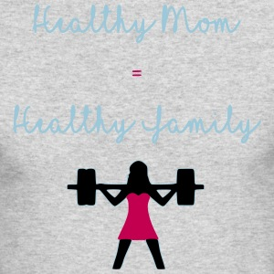 healthy mom - Men's Long Sleeve T-Shirt by Next Level