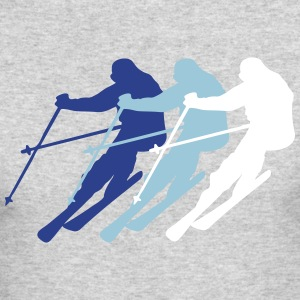 skiing - Men's Long Sleeve T-Shirt by Next Level