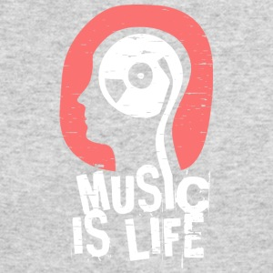 Music is life - Men's Long Sleeve T-Shirt by Next Level
