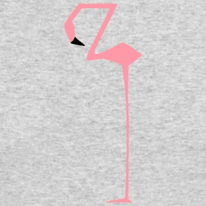 flamingo square edgy straight funny cool present - Men's Long Sleeve T-Shirt by Next Level