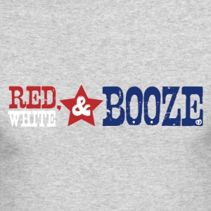 red white booze - Men's Long Sleeve T-Shirt by Next Level