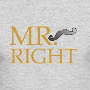 Mr Right - Men's Long Sleeve T-Shirt by Next Level