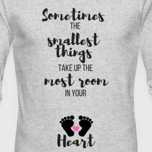Sometimes the Smallest Things (Pink) - Men's Long Sleeve T-Shirt by Next Level