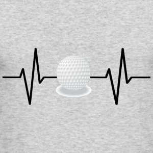 My heart beats for golf! gift - Men's Long Sleeve T-Shirt by Next Level