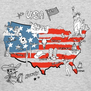 Usa map - Men's Long Sleeve T-Shirt by Next Level