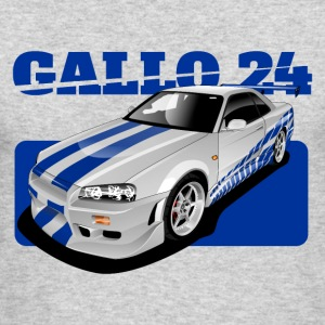 O Connor ride Nissan GTR R34 - Men's Long Sleeve T-Shirt by Next Level