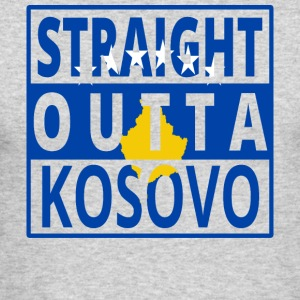 Straight outta Kosovo balkan kosovar png - Men's Long Sleeve T-Shirt by Next Level