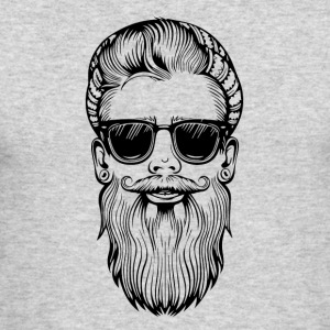 bearded hipster - Men's Long Sleeve T-Shirt by Next Level