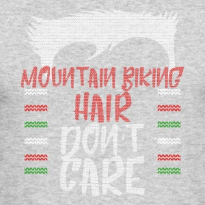 Ugly sweater christmas gift for Mountain biking - Men's Long Sleeve T-Shirt by Next Level