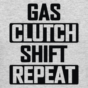 Gas Clutch Shift Repeat - Men's Long Sleeve T-Shirt by Next Level