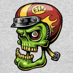 Zombie Helmet - Men's Long Sleeve T-Shirt by Next Level