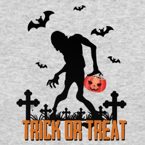 Monster Zombie Trick or TREAT Halloween - Men's Long Sleeve T-Shirt by Next Level