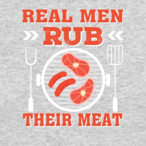 Real Men Rub Their Meat Funny BBQ Men - Men's Long Sleeve T-Shirt by Next Level