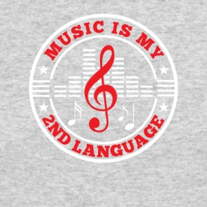 Music Is My 2nd Language Funny Music Lover - Men's Long Sleeve T-Shirt by Next Level