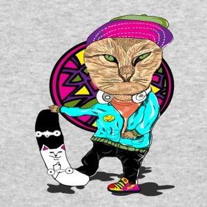 Skateboard Cat - Men's Long Sleeve T-Shirt by Next Level