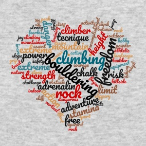 I love Bouldering Wordcloud - Men's Long Sleeve T-Shirt by Next Level