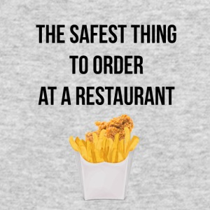 Nuggets with fries the safest thing to order - Men's Long Sleeve T-Shirt by Next Level