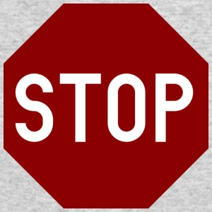 STOP sign - Men's Long Sleeve T-Shirt by Next Level