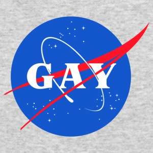 Nasa Gay Pride Logo - Men's Long Sleeve T-Shirt by Next Level