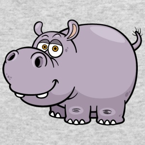 hippopotamus-animal-wildlife-smile - Men's Long Sleeve T-Shirt by Next Level