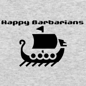 Happy Barbarians viking ship - Men's Long Sleeve T-Shirt by Next Level