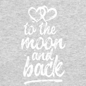 Love you To the moon and back - white - Men's Long Sleeve T-Shirt by Next Level