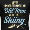 Never Underestimate An Old Man Who Loves Skiing - Men's Long Sleeve T-Shirt by Next Level