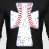 Baseball Cross - Men's Long Sleeve T-Shirt by Next Level