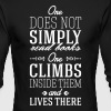 One does not simply read books - Men's Long Sleeve T-Shirt by Next Level