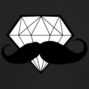 Diamond with Moustache - Hipster - Swag - Men's Long Sleeve T-Shirt by Next Level