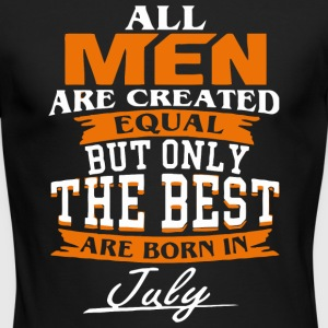 All men the best are born in July - Men's Long Sleeve T-Shirt by Next Level